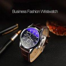 Bounabay Men Watch Luxury Brand Watches Quartz Clock Fashion Leather Belts Watch Cheap Sports Wristwatch Relogio Male – intl