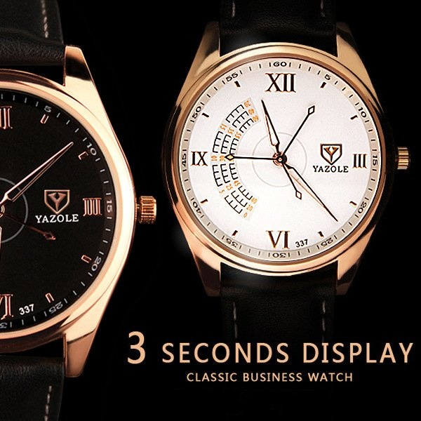 So Sánh Giá Bounabay New Watch Three Seconds Needle Male Luxury Brands High-end Fashion Elite Business Quartz Men Watches – intl