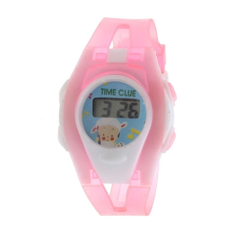 Nơi bán Boy Girl Student Sport Time Electronic Digital LCD Wrist Watch Pink - intl