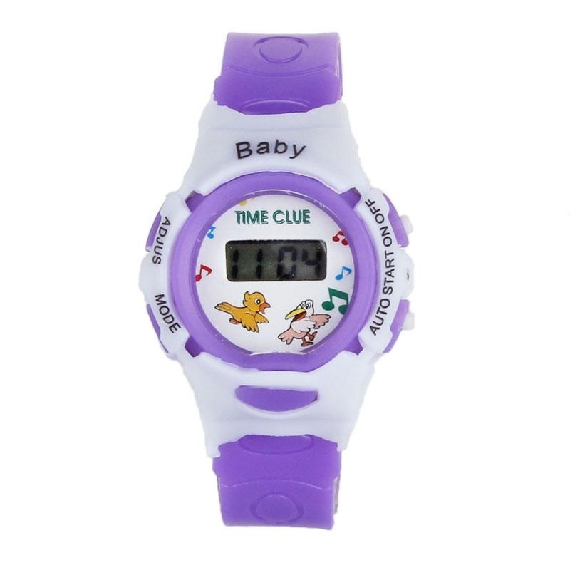 Nơi bán Boys Girls Students Time Electronic Digital Wrist Sport Watch Purple - intl