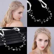 Bride Bridesmaid Crystal Pearl Hairband Headdress Headband – intl