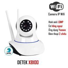 Camera HD Wireless IP 8100 quan sát – xoay 360 độ dùng ứng dụng Yoosee (Trắng)