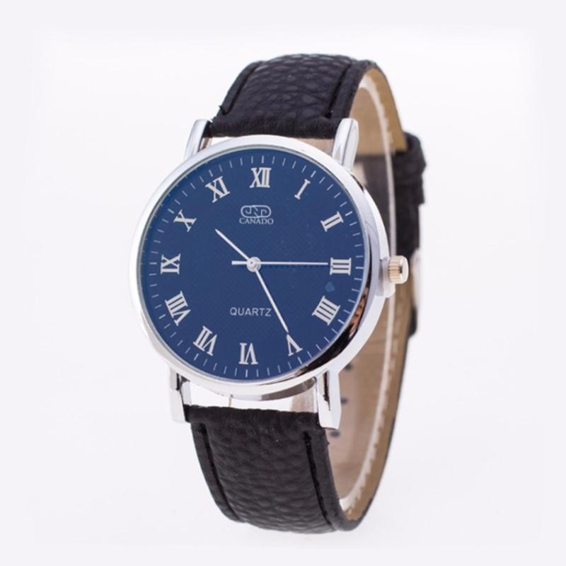 Nơi bán CANADO Đồng hồ nam dây da mềm sợi tổng hợp SD001 (Đen)