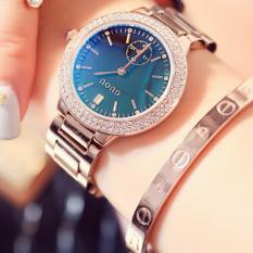 CANADO Đồng Hồ Nữ GUOU Kim Rốn Blue Dial Rose Gold Women Ladies Dress Watches Relogio Feminino Watch 8141 (Vàng Hồng)