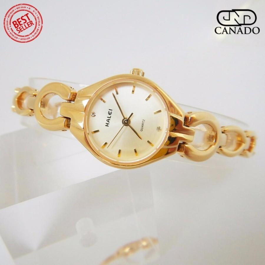 CANADO Đồng Hồ Nữ HALEI Saphiare Ladies Luxury Watch HL5006 Chống Xước – Chống Nước (Vàng)
