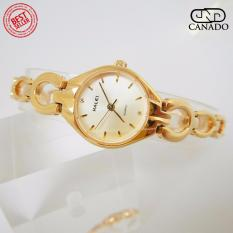 Cửa hàng bán CANADO Đồng Hồ Nữ HALEI Saphiare Ladies Luxury Watch HL5006 Chống Xước – Chống Nước (Vàng)