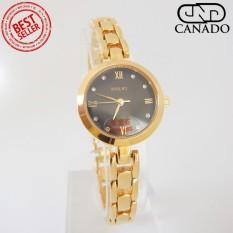 Cập Nhật Giá CANADO Đồng Hồ Nữ HALEI Saphiare Ladies Luxury Watch HL5009 Chống Xước – Chống Nước (Vàng)