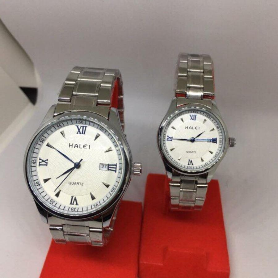 Cặp Đồng hồ Halei nam nữ cao cấp chống xước chống nước tuyệt đối (Giá 1 đôi)