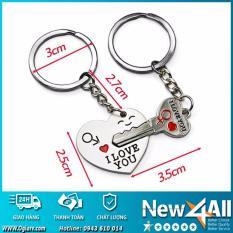 Trang bán Cặp móc khóa tình yêu + Trái tim I Love You (Kẽm chống gỉ)