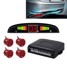 Car buzz reversing radar system with 4 stop sensors and LCD display - intl