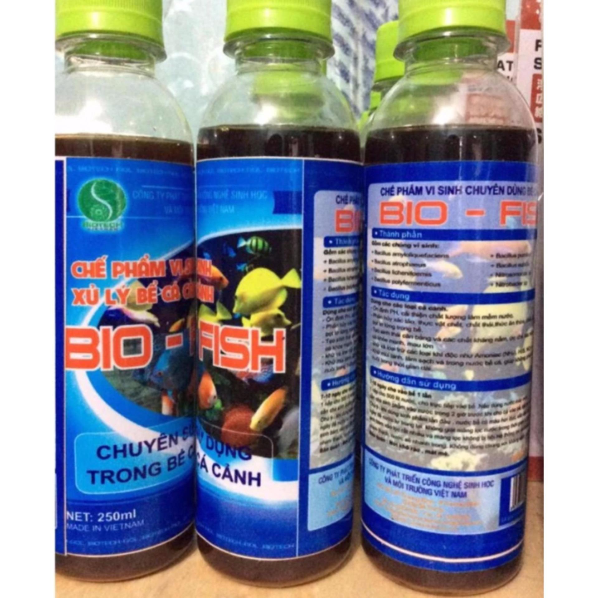 Chế phẩm vi sinh BiOTECH BIO-FISH làm sạch nước bể cá cảnh, chống rêu mốc và nuôi cá không phải thay nước trong thời gian dài