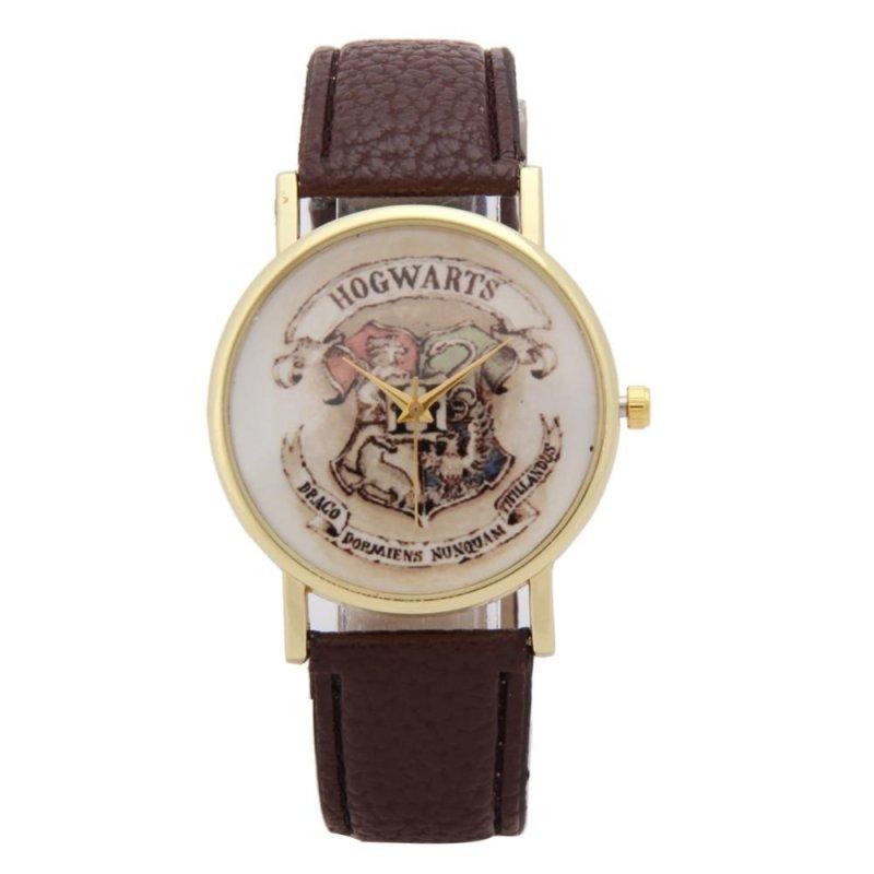 Children Leather Wristwatch Casual Luxury Quartz Watch (Dark Brown) - intl bán chạy