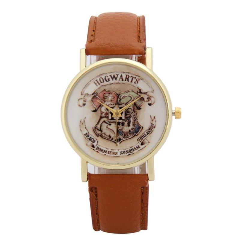 Children Leather Wristwatch Casual Luxury Quartz Watch (Light Brown) - intl bán chạy