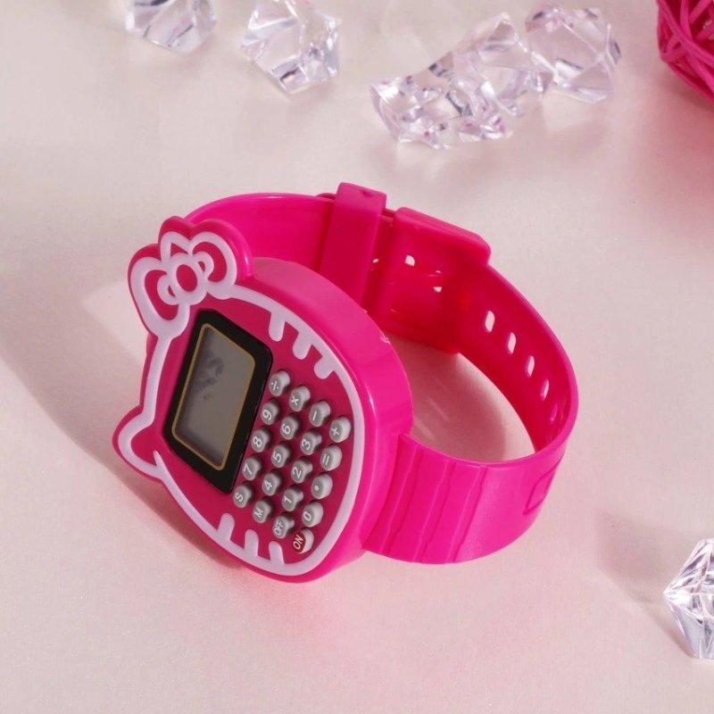 Children Silicone Date Multi-Purpose Kids Calculator Wrist Watch(Rose) - intl bán chạy
