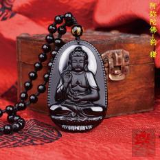 Chuỗi hạt đeo cổ mặt Phật A Di Đà – Phật bản mệnh người tuổi Tuất, Hợi