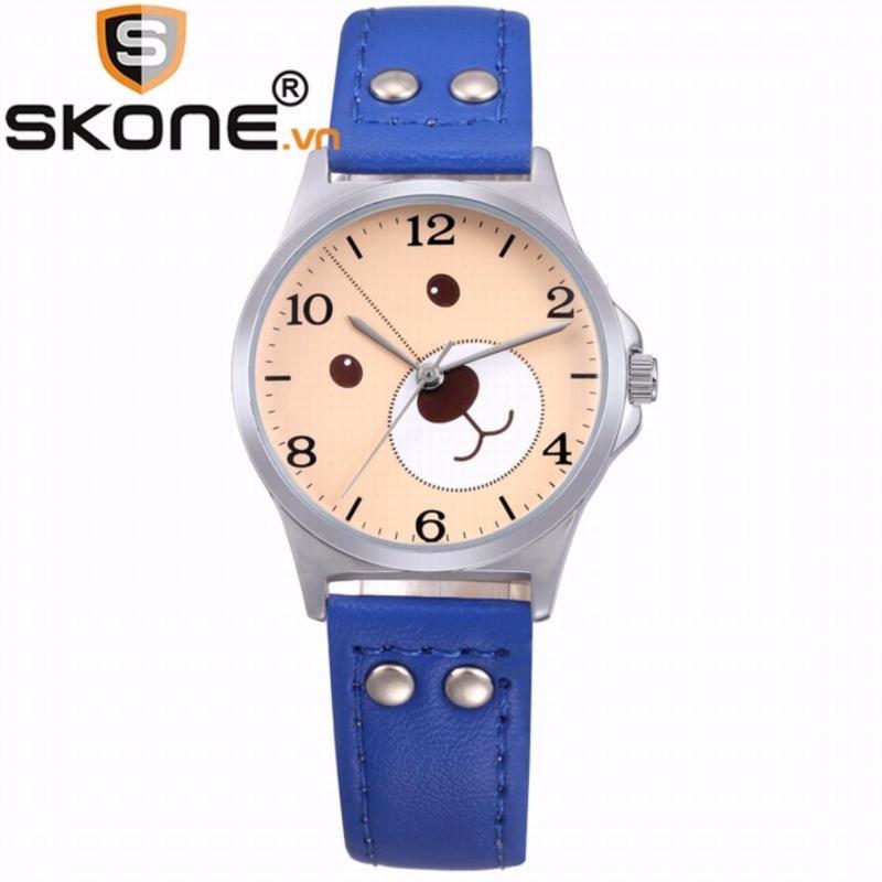 Combo 02 đồng hồ bé gái SKONE - dây da 3170-3 bán chạy