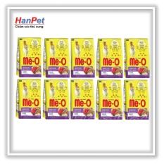 Hanpet.HCM miễn ship>99k-Combo 10 gói thức ăn dạng hạt mèo lớn ME-O 350gr (vị Hải sản) hanpet 201g-HP10364TC