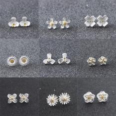 Combo 2 đôi bông tai bạc ý cao cấp ( mẫu hoa )