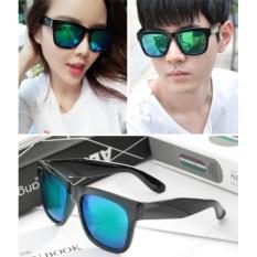 Combo 2 kính mát thời trang nam nữ sành điệu mắt tráng gương (Xanh)