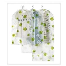 Combo 3 Túi Bảo Vệ Quần Áo Làm Đẹp – Trắng hoa xanh – 3 Size