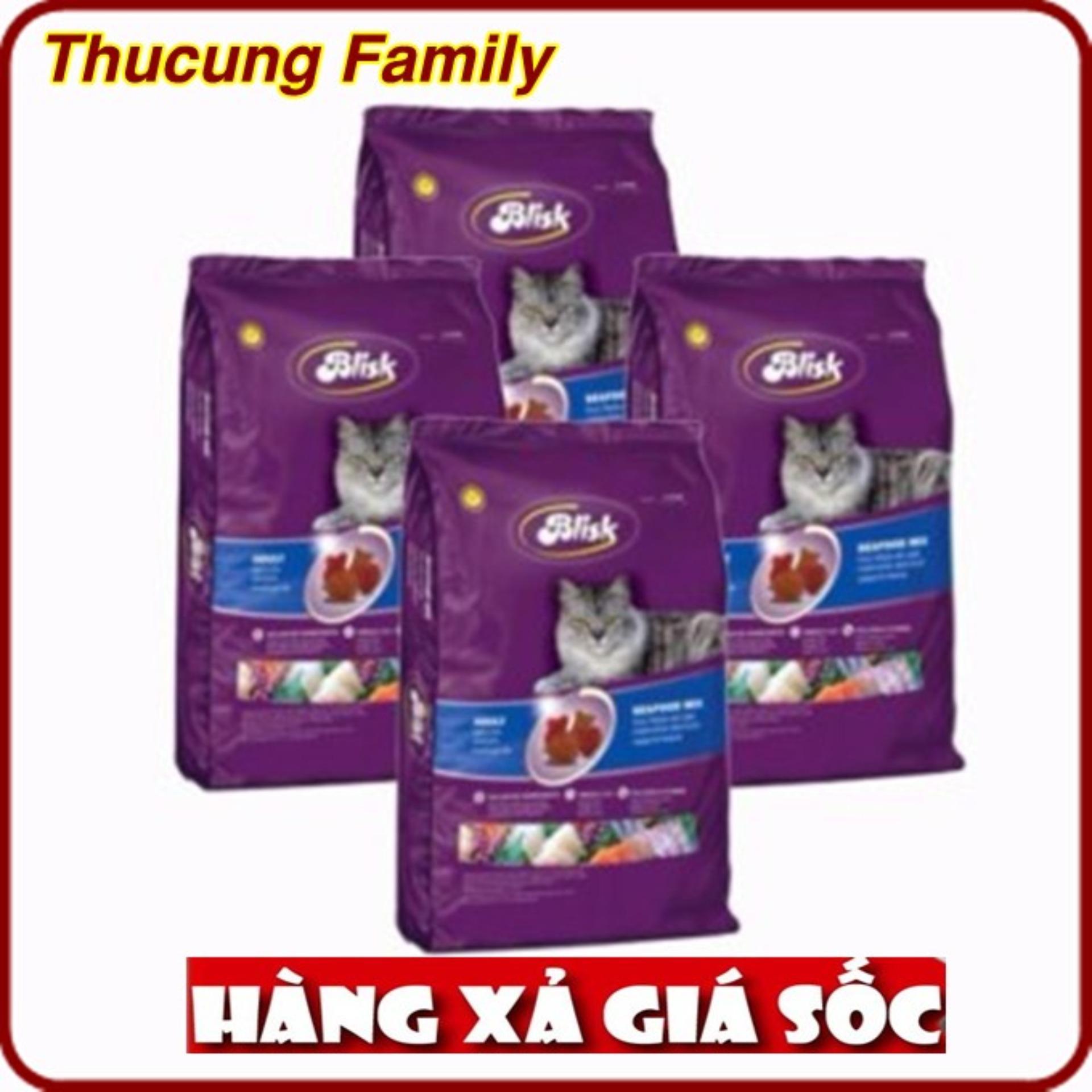 COMBO 4 túi thức ăn hạt cho Mèo ( mọi lứa tuổi) Blisk 500gr. Sản phẩm của PHÁP