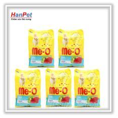 HCM -Combo 5 gói ME-O 350gr – Thức ăn dạng hạt cho mèo lớn vị CÁ NGỪ & HẢI SẢN (hanpet 201c)-HP10368TC