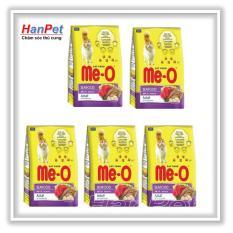 Đánh Giá COMBO 5 gói thức ăn dạng hạt cho mèo lớn ME-O 350gr (vị Hải sản) hanpet 201e