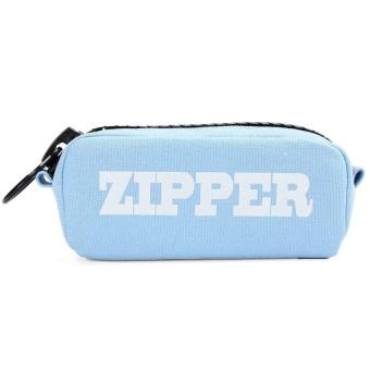 Cosmetic Makeup Bag Canvas Student Pen Storage Large Zipper PouchBlue - intl