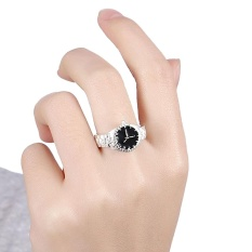Creative Women Quartz 925 Silver Finger Ring Watch Alloy Personality Jewelry