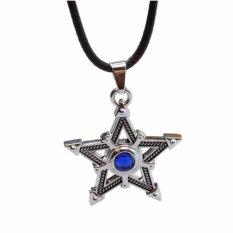 Dây chuyền hình ngôi sao xanh năm cánh thời trang nam nữ