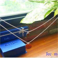 Dây chuyền kèm mặt 2 sợi ngắn dài – Bạc Thật Bạc Nguyên Chất BACDKM05 – Jecom Silver (Bạc)