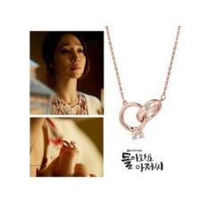 Dây chuyền kèm mặt xỏ 02 nhẫn Nam Nữ phong trách Hàn Quốc. (40)