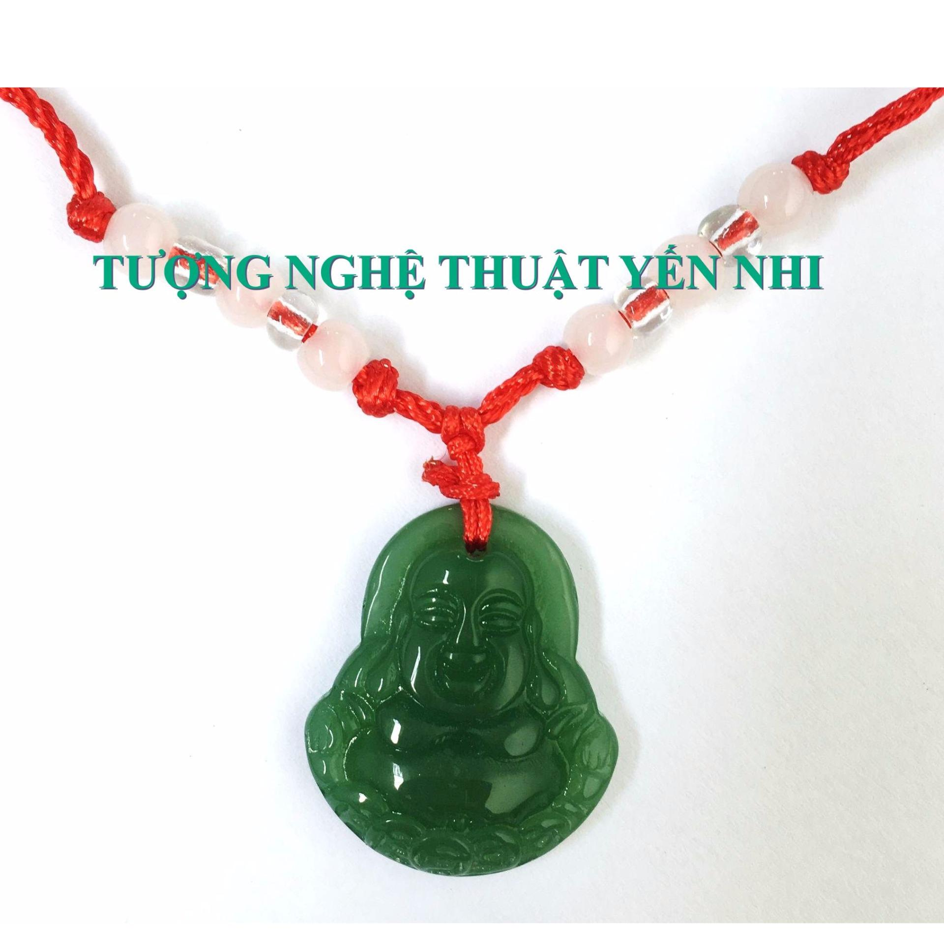 Dây Chuyền Mặt Phật Di Lặc xanh ngọc