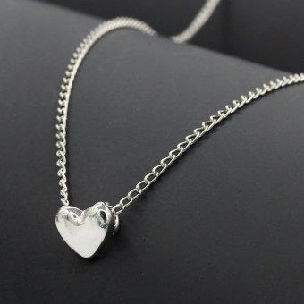 Dây chuyền mặt trái tim (màu bạc)