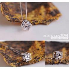 SALE CỰC SỐC – Dây chuyền nữ bạc 925 mặt kim cương cực đẹp (VC2001)