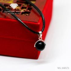 Dây Chuyền Nữ Đá Obsidian Đen Mệnh Mộc – Thủy Phong Thủy BẢO TÍN (Đen)