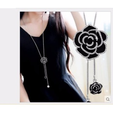Dây chuyền nữ hoa hồng đen đính pha lê lấp lánh sang trọng-DC28