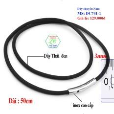 Dây chuyền Thái sợi dù cao cấp ver2 3ly DC741-1 (50cm-ĐEN) – TRANG SUC NAM LAZADA