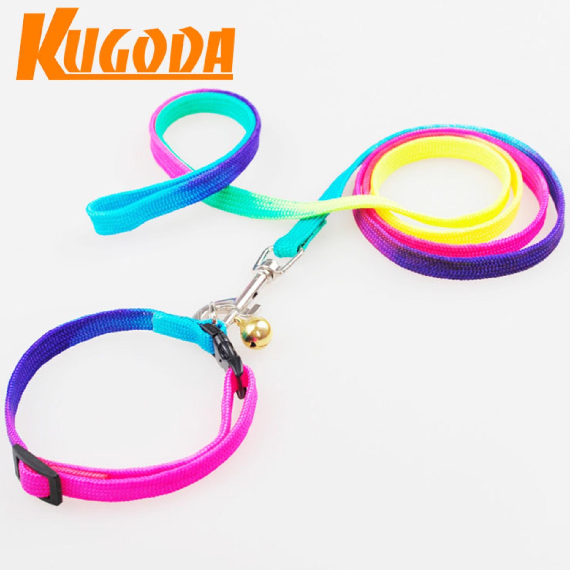 Dây dắt chó mèo Kugoda có vòng cổ đủ màu – kgd023