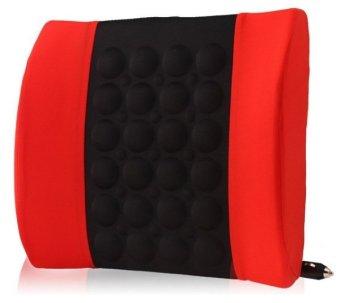 Đệm dựa lưng massage điện cho ô tô SPKH (Đỏ phối đen)
