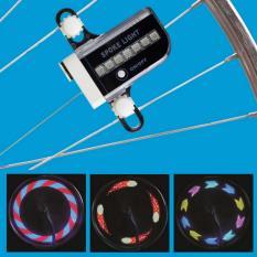 Đèn 14 led tạo hình gắn bánh xe Cầu Vồng (xanh dương)
