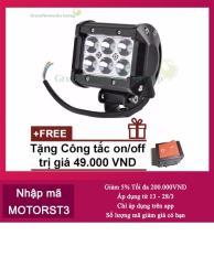 Đèn led trợ sáng C6 18w GreenNetworks (ánh sáng trắng) + Tặng công tắc