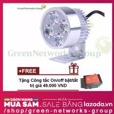 Đèn led trợ sáng L4 20w GreenNetworks (ánh sáng trắng) + Tặng công tắc