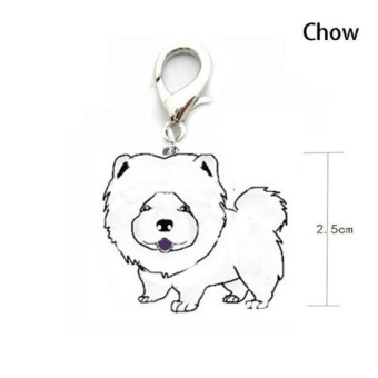 Dog Tag Disc Disk Pet ID Enamel Accessories Collar Necklace Pendant - intl