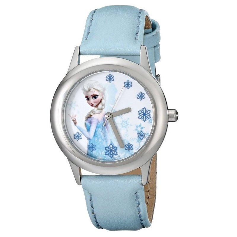 Đồng hồ bé gái dây da Disney Frozen Queen Elsa Stainless Steel (Xanh) bán chạy