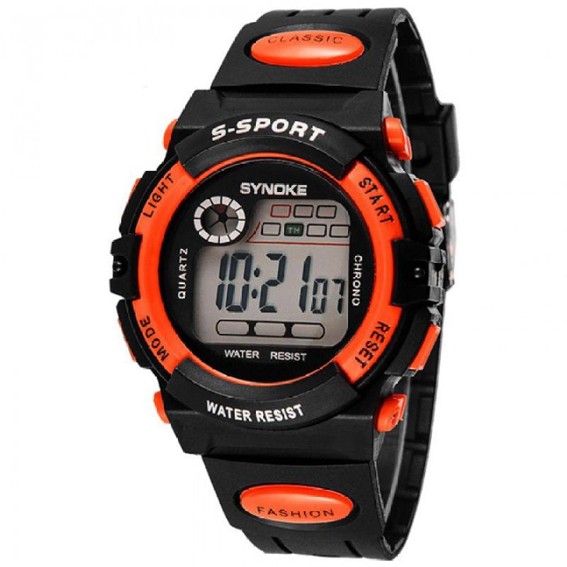 Đồng hồ bé trai dây cao su  Synoke  99269 (Cam) bán chạy