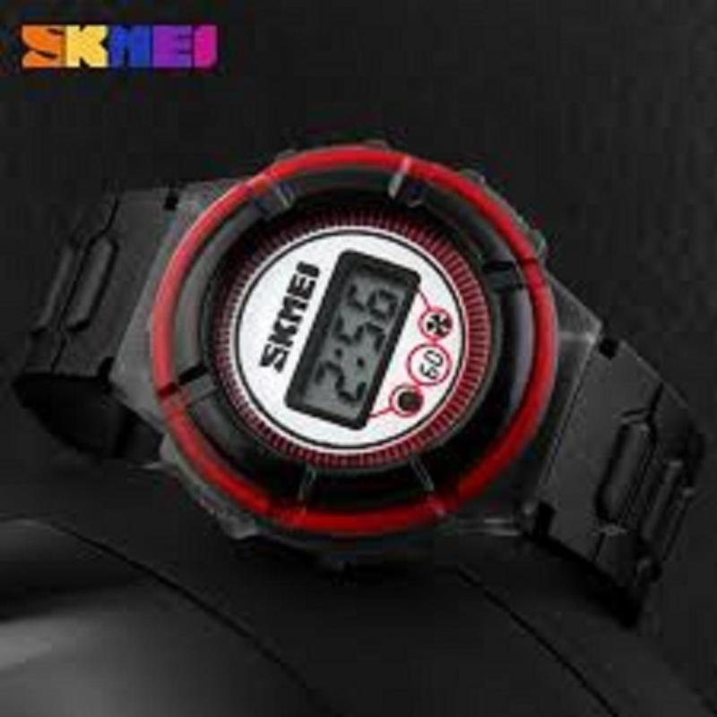 Nơi bán Đồng hồ bé trai thời trang, dây cao su Skmei 1097 (Đen)