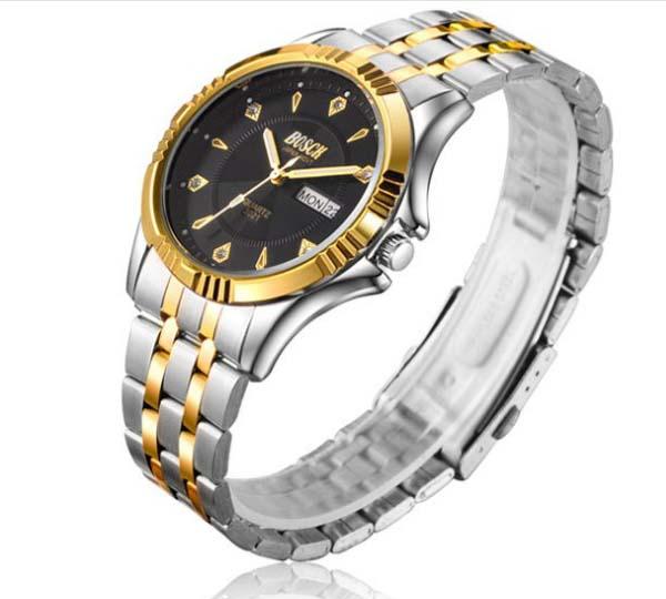 Đồng hồ Bosck 2 lịch (Đen)