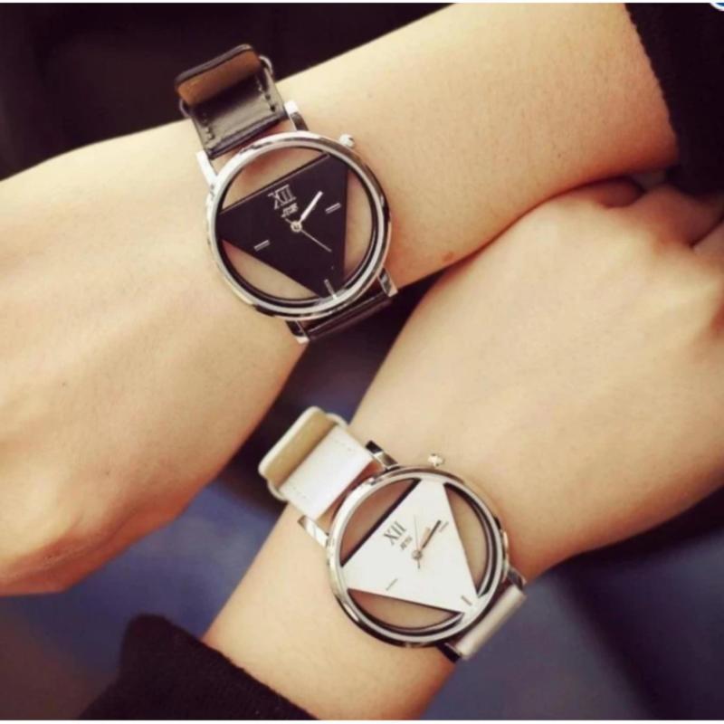 Nơi bán Đồng hồ cặp dây da tam giác siêu đẹp ZIN09 ( đen Trắng )