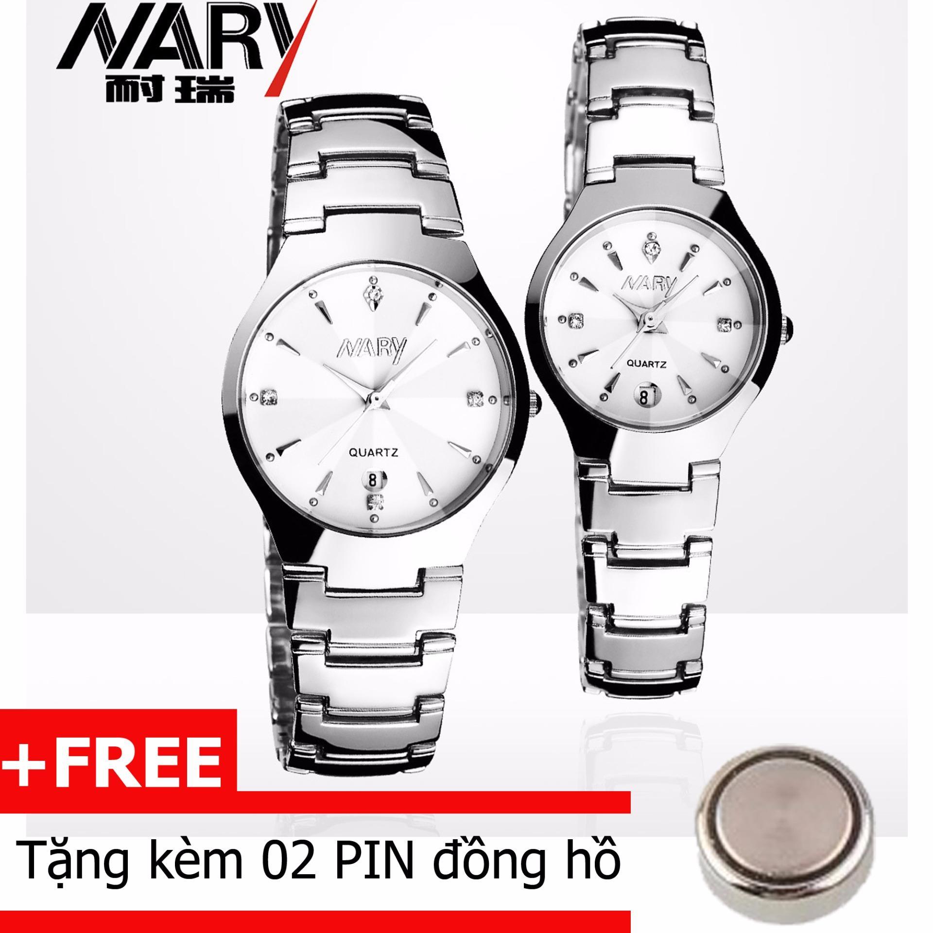 Đồng hồ cặp dây hợp kim Nary 1004
